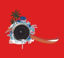 Summer DJ Sounds One Piece - Short Sleeve