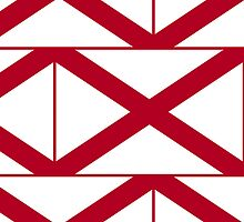 Iphone Case - State Flag of Alabama  - Patchwork Horizontal by Mark Podger