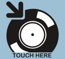 Vinyl Touch Here Kids Tee