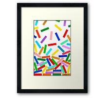 STREAMING COLORS Framed Print