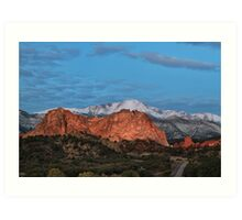 Blue Skies over Pikes Peak Art Print