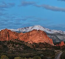 Blue Skies over Pikes Peak by RondaKimbrow