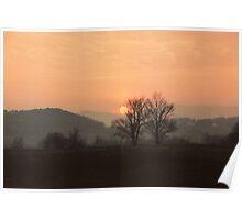 Sunset in Slovenia Poster