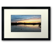 Twilight at the Quarry Framed Print