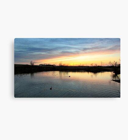 Twilight at the Quarry Canvas Print