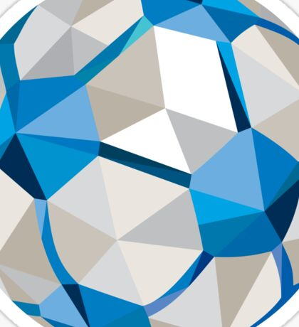 Soccer Football Ball Low Polygon Sticker