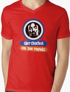 J.R. Smith │ Get Chicks or Die Trying Mens V-Neck T-Shirt
