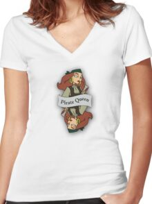 The Pirate Queen Women's Fitted V-Neck T-Shirt