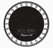 SMALL Circle Logo - Black by Kolibri Apparel