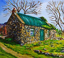 Farm Cottage in the Townland of Loughloughan, Broughshane, County Antrim by Laura Butler