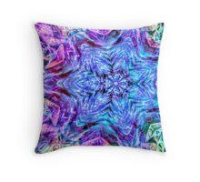 Neon Snowflake Throw Pillow