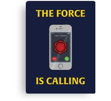 THE FORCE IS CALLING (FIRST ORDER) Canvas Print