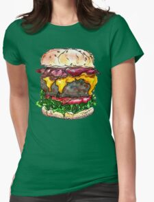 bacon cheeseburger Womens Fitted T-Shirt