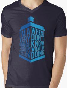Dr Who - Baker Quote Mens V-Neck T-Shirt