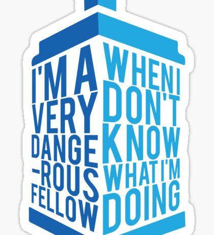 Dr Who - Baker Quote Sticker