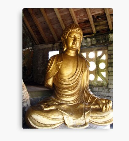 Buddha in Portmeirion Wales Canvas Print