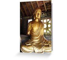Buddha in Portmeirion Wales Greeting Card