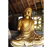 Buddha in Portmeirion Wales Photographic Print