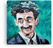 Groucho gives the eyes Canvas Print