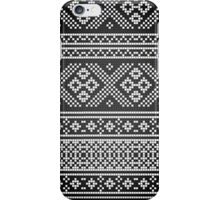 Northern Pattern (black&white) iPhone Case/Skin