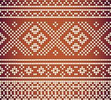 Northern Pattern (golden&white) by recklessrocker