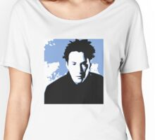 Keanu Reeves in the Matrix, Blue Tone Women's Relaxed Fit T-Shirt