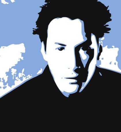 Keanu Reeves in the Matrix, Blue Tone Sticker
