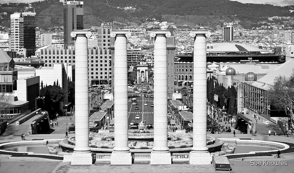 Looking towards Placa De Espanya, Barcelona by Sue Knowles