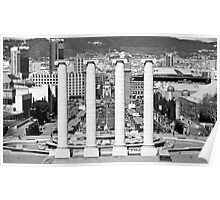 Looking towards Placa De Espanya, Barcelona Poster