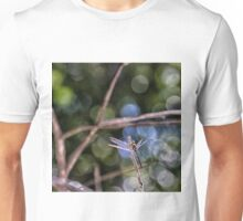Dragonfly resting on a twig Unisex T-Shirt