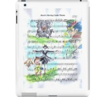 Howl's Moving Castle Sheet Music iPad Case/Skin