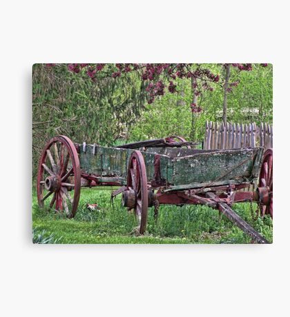 Worn Wagon Canvas Print