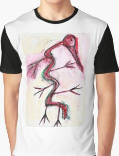 Shamanic Bird Graphic T-Shirt
