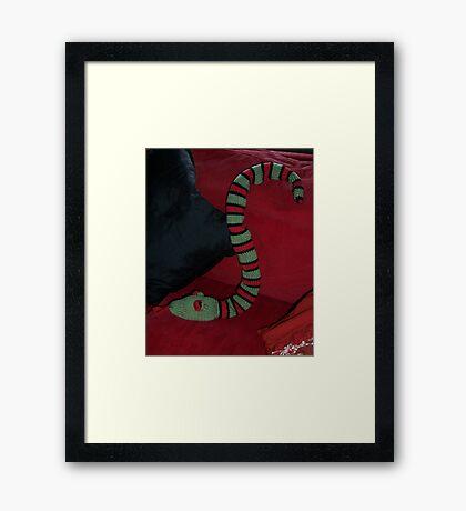 Knitted Snake Framed Print