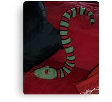 Knitted Snake Canvas Print