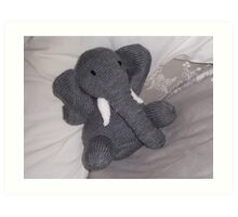 Knitted Elephant Art Print