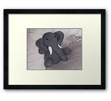 Knitted Elephant Framed Print