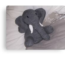 Knitted Elephant Canvas Print