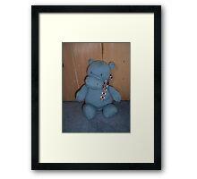 Blue Hippo Framed Print