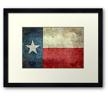 "The ""Lone Star Flag"" of The Lone State Texas Framed Print"