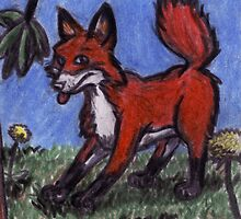 Fox In The Forest by David Webb