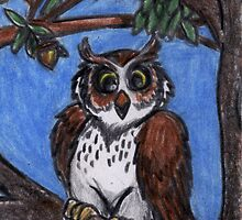Owl In The Forest by David Webb