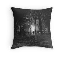 Zombie Night Throw Pillow