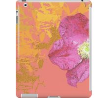 coral vintage flower iPad Case/Skin