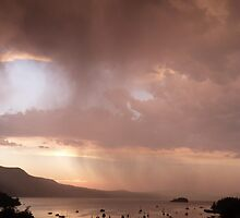 Thunderstorm over Brentwood Bay BC  July 2012 by Verna  Perry