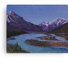 Athabasca Runoff Canvas Print