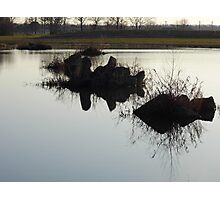 Cement Reflections Photographic Print