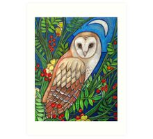 White Heart (Portrait of a Barn Owl) Art Print