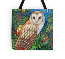 White Heart (Portrait of a Barn Owl) Tote Bag