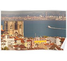 the city of light. Lisbon Cathedral. Poster